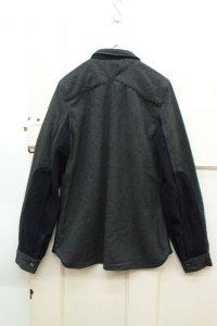 画像1: Clip.tab レザーPKシャツ 98;チャコール/ グレーCK  サイズ2