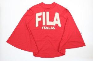 画像1: ★SALE MELT  FILAヘンケイフレアワンピース  半袖丈、ヒザ丈  5;赤 (1)