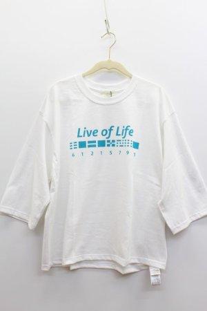 画像1: 40%off A View From Here    PRINT TEE -live of life-    A.OFF WHITE (1)