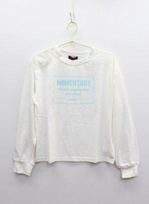 画像1: SALE LOVEtoxic ラブトキシック  W衿スリット長Tシャツ  03;オフホワイト (1)