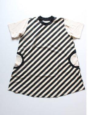 画像1: ZOZIO(ゾジヲ) Stripe one-piece     カラー;black border (1)