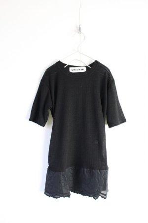 画像1: 2021SS UNIONINI TEDDYBEAR LACE SHEER TOPS    カラー;black (1)